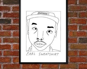Badly Drawn Earl Sweatshirt - Hip Hop / Rap poster / print / artwork - FREE Worldwide Shipping