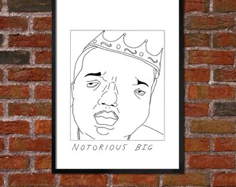 Badly Drawn Notorious BIG - Hip Hop Poster - *** BUY 4, get a 5th FREE***
