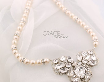 Bridal statement necklace - wedding jewelry