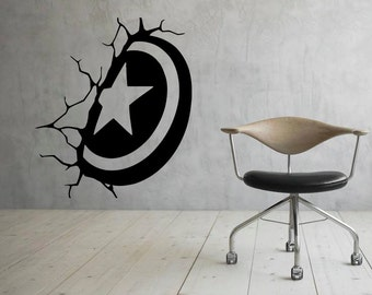 Captain America Wall Art captain america shield | etsy