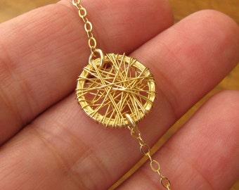 Gold bracelet circle, bracelet minimalist, bracelet gold filled 14k, bracelet circle minimalist, jewelry gift, chain bracelet