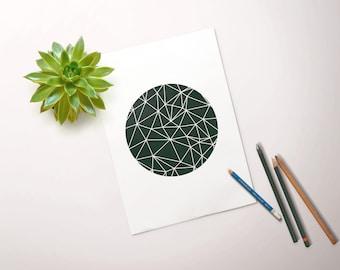 Geometric Circle // Geometric, Circle, Motivational Print, Inspirational, Art, Wall Decor, Home Decor, Scandinavian, Scandi, Design