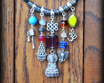 Buddha necklace with matching earrings