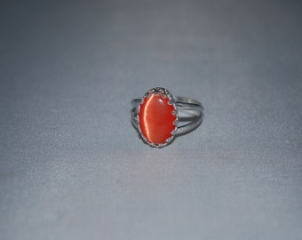 Sterling Silver cats eye ring size 7.5