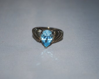 Sterling silver Topaz ring size 9.75