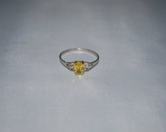 Sterling silver Citrine ring size 9.5