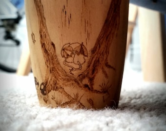 Unique pyrography sofa feet