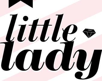 Little Lady Pink Nursery Art