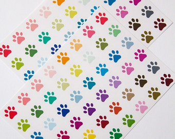 Paw print stickers, vet stickers, pet stickers, dog stickers, cat stickers, planner stickers, animal eclp filofax happy planner kikkik
