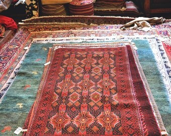 Vintage 3.2 x 6.4 Hand-Knotted Persian Rug - orig. Ardabil, Iran