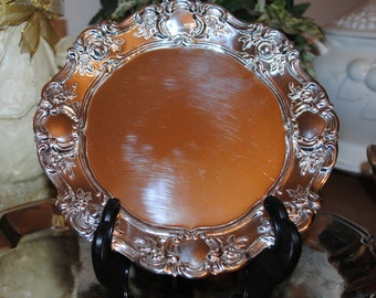"""Embossed Plates, Vintage Silver Plate, Towle """"Old Master"""" Bread/Butter Plates, Embossed Silver Plate, Formal Table Settings"""
