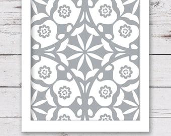 PRINTABLE Art, Wall Art Printable, Gray Art, Digital INSTANT DOWNLOAD, Gray Artwork, Bedroom Art, Bathroom Art, Home Decor, Damask Art