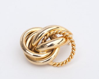 80s Gold Loops Brooch