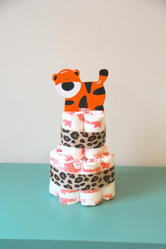 Cake Honest Diaper Cake By BeachBaby Zoo Safari Animal Diaper Cake