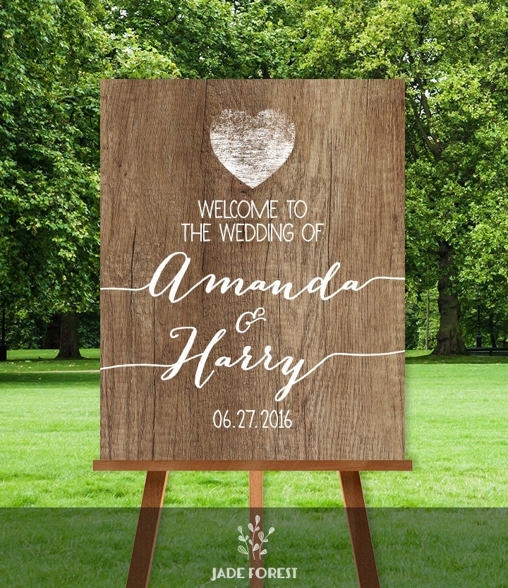 Rustic Wedding Welcome Sign Rustic Welcome Rustic Wood
