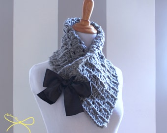 Wrap Cowl with Satin Bow