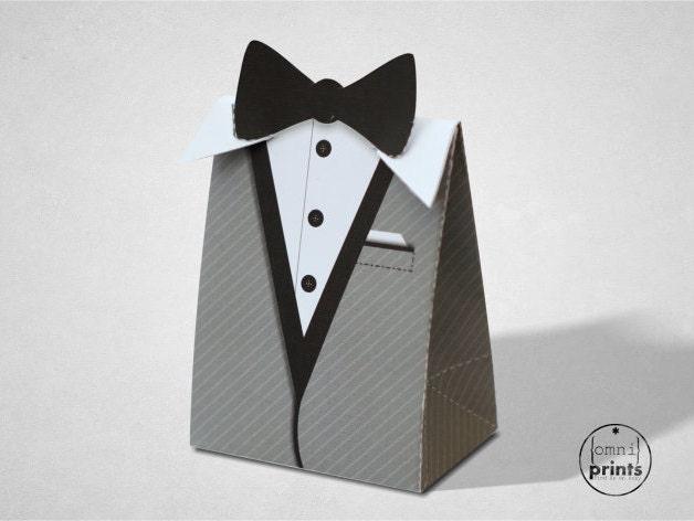 ?zoom & Black Tie Party Gift Box Grey Tuxedo Bond Theme Printable Aboutintivar.Com