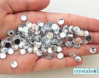Flat Gems 130pc - 6mm -G102