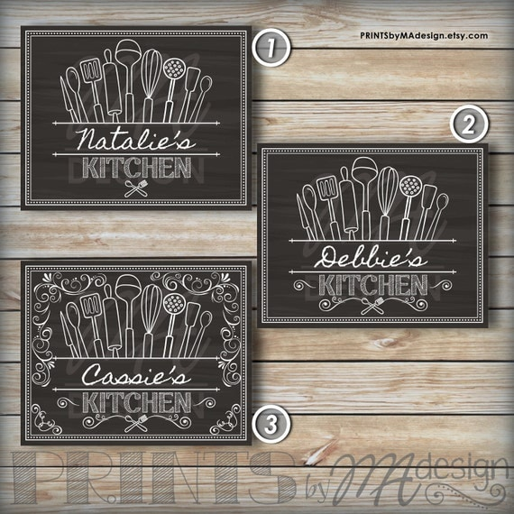 Kitchen Decor Wall Art Custom Kitchen Sign By PRINTSbyMAdesign