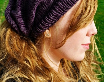 Grape Shape-Shifter: Dread Beanie Hat Scarf
