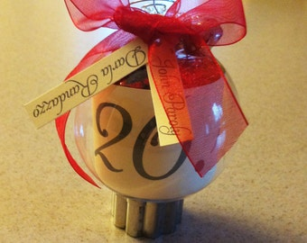 Save The Date Wedding Invitation Ornament - Made to order!!!
