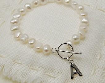 Personalised Pearl Bracelet ~ Wedding, Bridesmaid, Birthday Gift