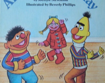 Sesame Street Children Illustrated Story Book - Anybody Can Play - featuring Jim Henson's Muppets
