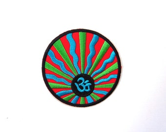 OM Logo Embroidered Patch size 8 cm
