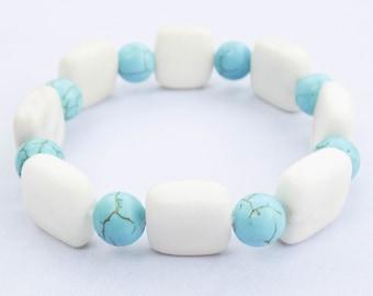 Handmade Jade & Turquoise Bracelet. Xalpan Bracelet