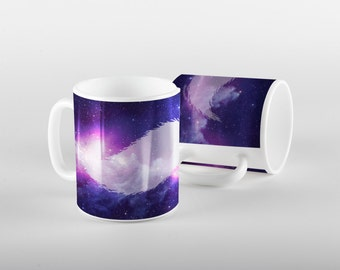 Mustache Galaxy Mug