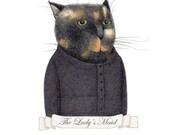 The Lady's Maid / PRINT / Cat Art / Cat Print / Cat Drawing / Cat Portrait / 8 x 10 cat print / 5 x 7 cat print