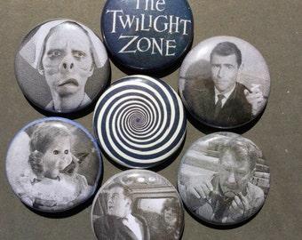 Twilight Zone Pinback Button Set, Rod Serling