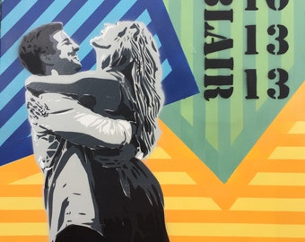 Custom Spray Paint Stencil Portrait