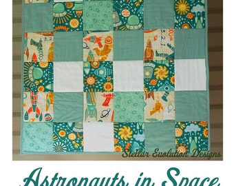 Outer space bedding on etsy a global handmade and vintage for Outer space quilt fabric