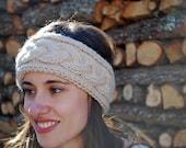Bandeau / Headband à torsades fait main