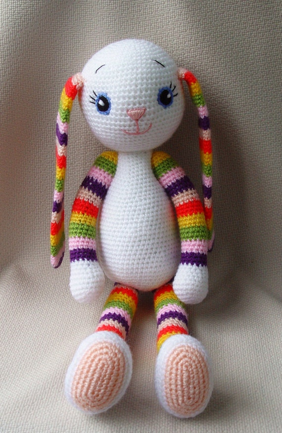 Knitting Stuffed Animals For Beginners : Items similar to crochet bunny toy