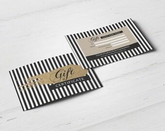 Gold glitter gift certificate template, elegant gift card design instant download printable gift card graphic design studio marketing