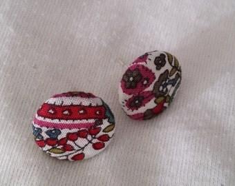 Paisley Light Fabric Earrings