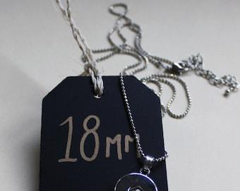 18mm Plain Pendant - Interchangeable Snap Jewellery