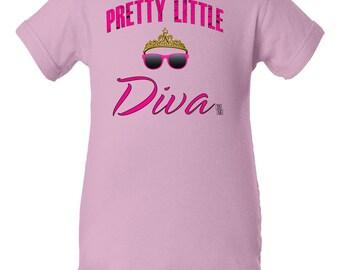 Pretty Little Diva Bodysuit, Princess Bodysuit, Pretty Baby Bodysuit, Baby Girl Gift, Baby Girl Bodysuit