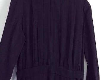 Vintage 1920s blue black long evening dress