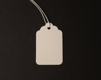 50 White Gloss Party Tags