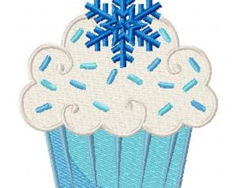 Cupcake Machine Embroidery Design