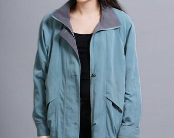 Light Blue/Aqua and Grey Jacket