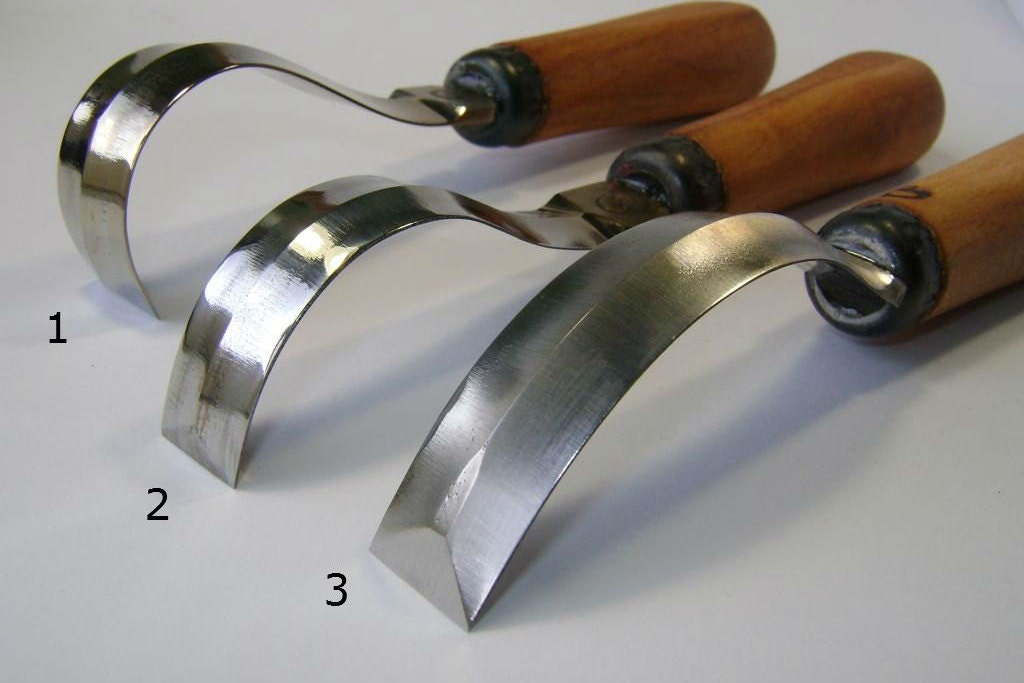 Spoon carving tools hand forged scorp tool