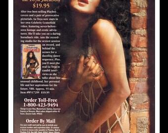 "Mature Celebrity Nude : La Toya Jackson Single Page Photo Wall Art Decor 8.5"" x 11"""