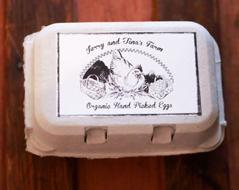 Custom Personalized Egg Carton Labels Chicken Coop Supplies by ...