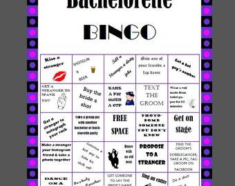 Bachelorette Bingo Printable Game