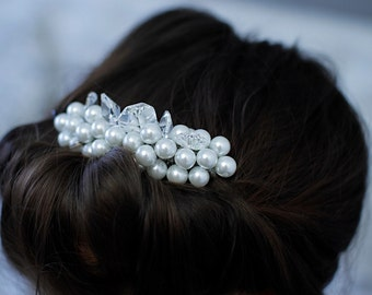 Bridal Hair Comb Wedding Headpiece Pearl
