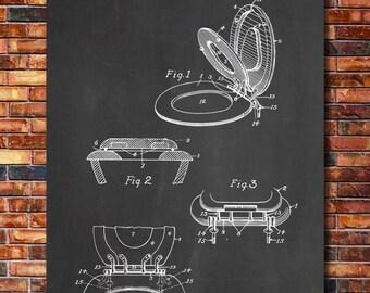 Toilet Seat Patent Print Art 1936